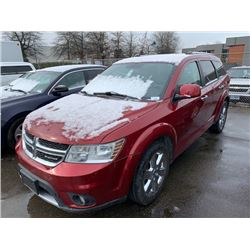 2011 DODGE JOURNEY R/T, RED, GAS, AUTOMATIC, VIN#3D4PH6FG5BT551872, 258,401KMS,