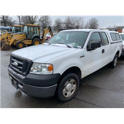 2006 FORD F150 PICKUP, GAS, AUTOMATIC, VIN#1FTRX12W46FA18176, 164,745KMS, RD,AC, 2 ICBC