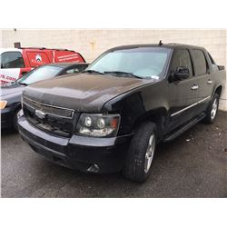 2007 CHEVROLET AVALANCHE, 4DR SUV, BLACK, VIN # 3GNFK123X7G117762