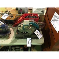 MAKITA ELECTRIC SHEET SANDER, ZODI PROPANE HOT SHOWER SYSTEM AND HITACHI CORDLESS DRILL