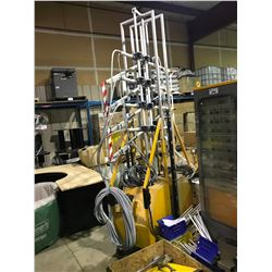 ITW GEMA 8 HEAD ELECTRONIC CENSORED POWDER COATING MACHINE WITH POWER UNIT AND ACCESSORIES