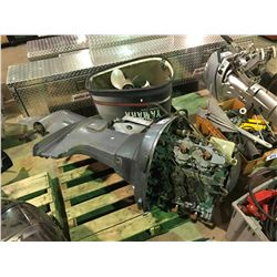 YAMAHA 200 V6 OUTBOARD MOTOR WITH PARTS AND PROPELLERS