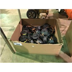 BOX OF ASSORTED STIHL WEED EATER HEADS