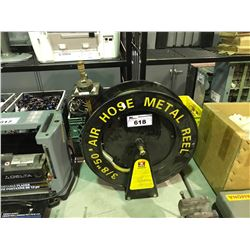 "NEIKO 3/8"" METAL AIR HOSE REEL WITH HOSE"