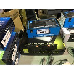JL AUDIO JX 1000/1D & JL AUDIO MX 300/1 AMPLIFIERS