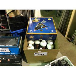 PLENTY 110V VAPORIZER & BOX OF RED EYE GLASS VOODOO CLEANER