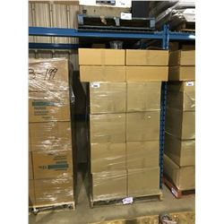 PALLET OF FOOD GRADE ROUND CLEAR CONTAINERS, LIDS & SEALS