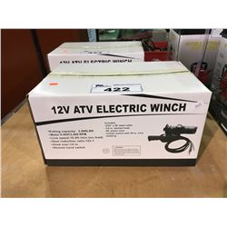 TMG INDUSTRIAL 12V 2,000LBS ELECTRIC ATV WINCH