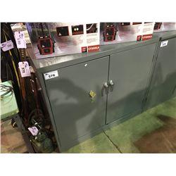 """GREY 48"""" X 24"""" X 42"""" METAL 2 DOOR LOCKING TOOL / STORAGE CABINET"""