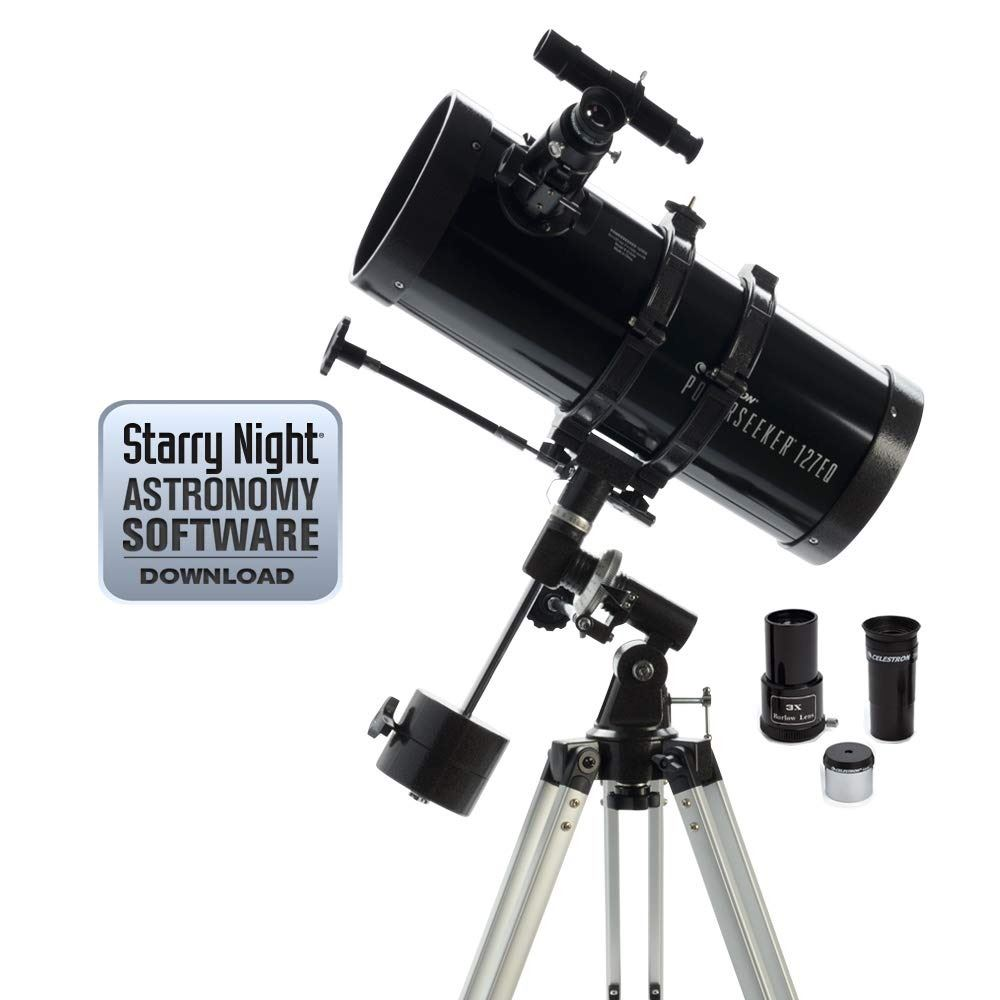 Celestron PowerSeeker 127 EQ Telescope - 21049 - Telescopes at Telescopes