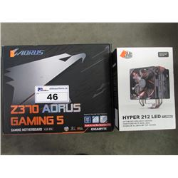 AORUS Z370 GAMING 5 MOTHERBOARD & COOLER MASTER HYPER 212 LED TURBO COOLER