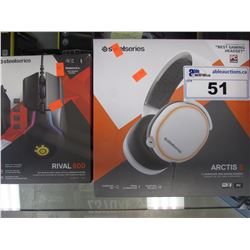 STEELSERIES ARCTIS 5 RGB GAMING HEADSET & STEELSERIES RIVAL 600 MOUSE