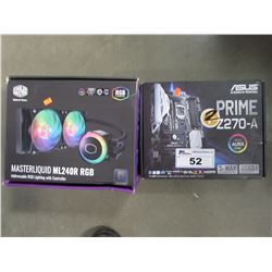 ASUS PRIME Z270-A MOTHERBOARD & COOLER MASTER ML240R RGB WATER COOLING