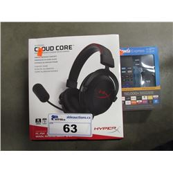 HYPERX CLOUD CORE HEADSET & ROKI EXPRESS DEVICE