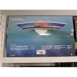 "SAMSUNG 32"" CURVED MONITOR MODEL CF391"