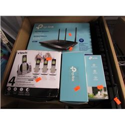 V-TECH AC1750 WIRELESS ROUTER, KEYBOARD, V-TECH PHONE SYSTEM, SMART WI-FI PLUGS, SMART SWITCH