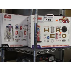 LITTLEBITS MARVEL AVENGERS HERO INVENTOR KIT & STAR WARS DROID INVENTOR KIT