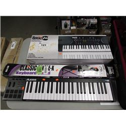 ROCKJAM 49 KEY MUSIC KEYBOARD, CLASSIC KEYBOARD STAND, ALESIS V49 KEYBOARD