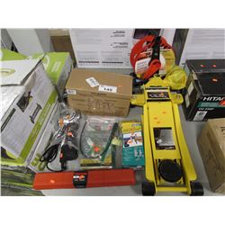 2-TON LOW PROFILE JACK, TORQUE WRENCH, DOWEL PRO KIT, MULTI CUTTER, BENCH VICE, FENCE TOOL, CORD