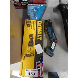 DEWALT RECIPROCATING SAW & MAKITA CORDLESS DRIVER DRILL