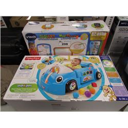 VTECH DIGIART CREATIVE EASEL & FISHERPRICE LAUGH AND LEARN SMART STAGES CRAWL AROUND CAR