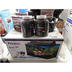 AQUEON BASIC 10 AQUARIUM KIT, AQUARIUM MASTERS ACTIVATED CARBON, AQUEON QUIET FLOW 10, CICHLID