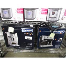 2 DELONGHI ESPRESSO MAKER MACHINES (FOR PARTS, REPAIR, SALVAGE)