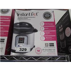 6 QUART INSTANT POT 7-IN-1 MULTI USE PROGRAMMABLE PRESSURE COOKER