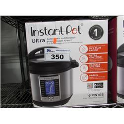 6 QUART ULTRA INSTANT POT 10-IN-1 MULTI USE PROGRAMMABLE PRESSURE COOKER