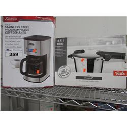SUNBEAM 12-CUP STAINLESS STEEL PROGRAMMABLE COFFEE MAKER, 4.5L VITAQUICK POT