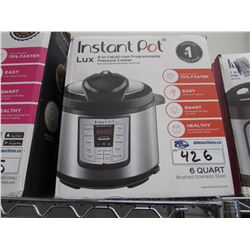 6 QUART LUX INSTANT POT 6-IN-1 MULTI USE PROGRAMMABLE PRESSURE COOKER
