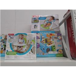 FISHERPRICE PORTABLE BOOSTER, FISHERPRICE SIT-ME-UP FLOOR SEAT, FISHERPRICE LAUGH & LEARN FOOD