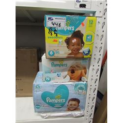 LARGE LOT OF ASSORTED DIAPERS