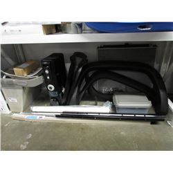 ELKAY WATER FOUNTAIN WITH DAMAGE, DELONGHI HEATER, AUTOMOTIVE PARTS, PLASTIC TOTE, ETC