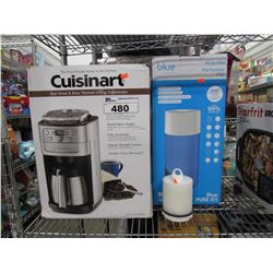 CUISINART BURR GRIND & BREW THERMAL 12-CUP COFFEE MAKER, BLUEAIR AIR PURIFIER