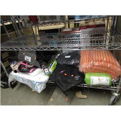 TOWELS, WATERPROOF DOGGY COAT, TRAVEL BAG, ASSORTED LINEN