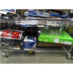 SHELF LOT OF ASSORTED AUTOMOTIVE SUPPLY & EQUIPMENT
