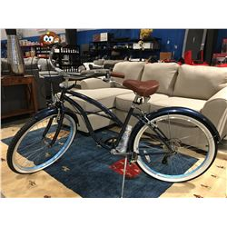 SIXTHREEZERO 7 SPEED CRUISER BIKE - BLUE