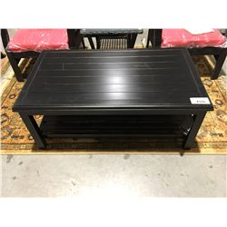 BLACK FINISH METAL OUTDOOR PATIO COFFEE TABLE