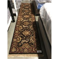 "FLORAL ANTIQUE FIN - WOOL 10'3""X2'7"" PERSIAN AREA RUG RUNNER (RETAIL VALUE $2,800.00)"
