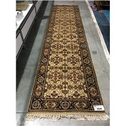 "FLORAL ANTIQUE FIN - WOOL10'4""X2'7"" PERSIAN AREA RUG RUNNER (RETAIL VALUE $2,880.00)"