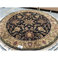FLORAL ANTIQUE FIN - WOOL 6'X6' ROUND PERSIAN AREA RUG  (RETAIL VALUE $4,210.00)