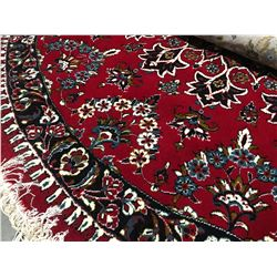 "KASHAN DESIGN - WOOL 6'7""X6'7"" ROUND PERSIAN AREA RUG  (RETAIL VALUE $960.00)"