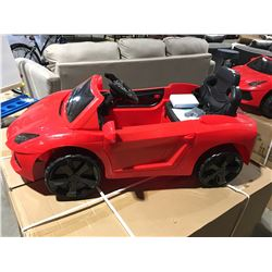 CHILDS BATTERY OPERATED RED FERRARI RIDE IN TOY CAR WITH REMOTE