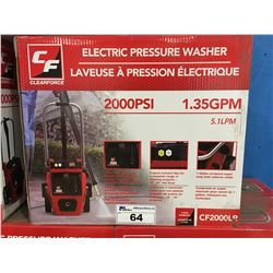 CLEARFORCE 2,000PSI ELECTRIC PRESSURE WASHER