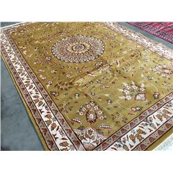 "FLORAL - WOOL & SILK 9'1""X6'1"" PERSIAN AREA RUG (RETAIL VALUE $5,800.00)"