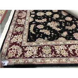 "TAERIZ -WOOL & SILK 9'5""X6'1"" PERSIAN AREA RUG (RETAIL VALUE $6,600.00)"
