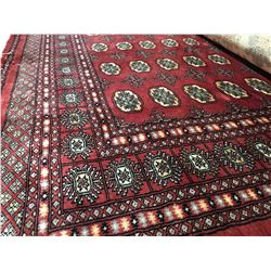 "BOKHARA - WOOL 8'3""X5'6"" PERSIAN AREA RUG (RETAIL VALUE $3,160.00)"