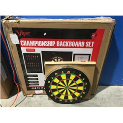 VIPER CHAMPIONSHIP BACKBOARD SET & DART BOARD