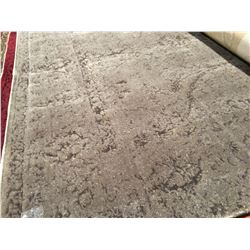 PATCHWORK CARPET - WOOL  8'X5' AREA RUG GREY (RETAIL VALUE $2,400.00)